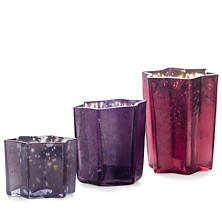 Tonal Orchid Bright Star Votive Holder/Set Of 8