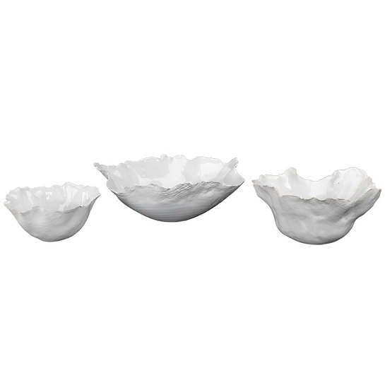Organa White Bowl Set/Set Of 3