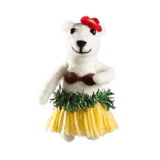 Felt Hula Bear Ornament