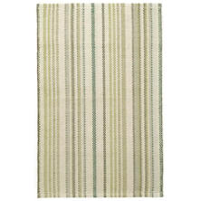 Oslo Stripe Green Woven Cotton Rug