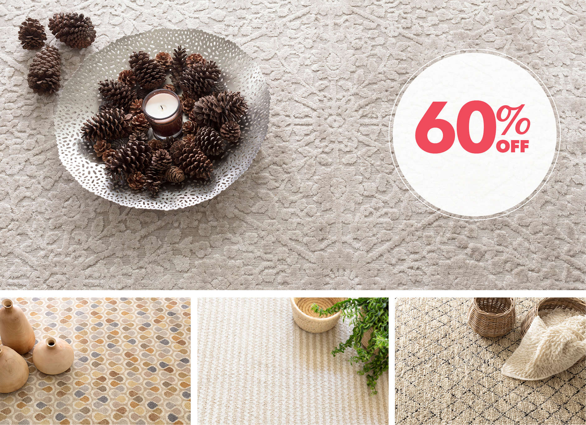 Up to 60% Off Rugs