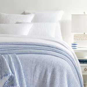 Santo Stripe Blue Coverlet