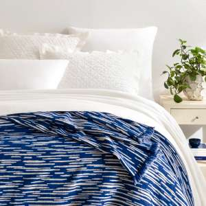 Corinth Chenille Blue Coverlet