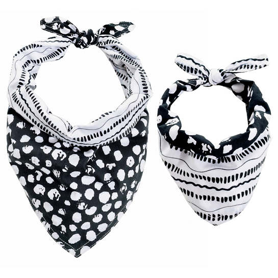 Dalmatian Black Dog Bandana