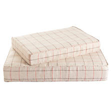 Chatham Tattersall Brick/Brown Dog Bed