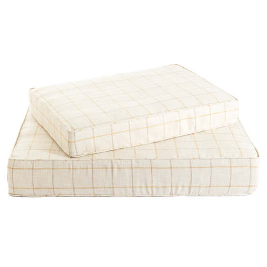 Chatham Tattersall Gold/Natural Dog Bed