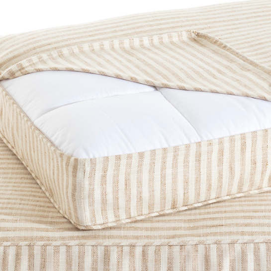Adams Ticking Natural Dog Bed Cover