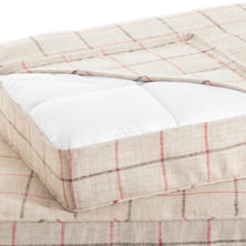 Chatham Tattersall Brick/Brown Dog Bed Cover