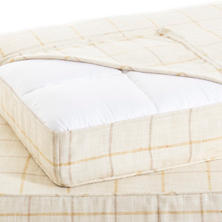 Chatham Tattersall Gold/Natural Dog Bed Cover