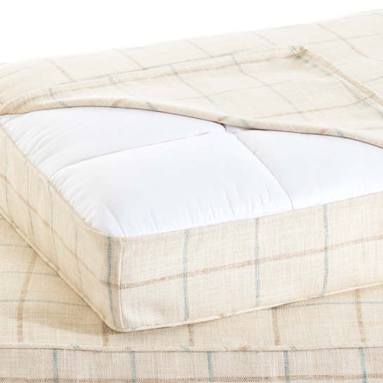 Chatham Tattersall Light Blue/Natural Dog Bed Cover
