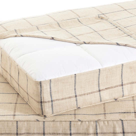 Chatham Tattersall Navy/Brown Dog Bed Cover