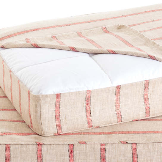 Glendale Stripe Brick/Brown Dog Bed Cover