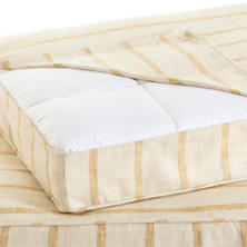 Glendale Stripe Gold/Natural Dog Bed Cover