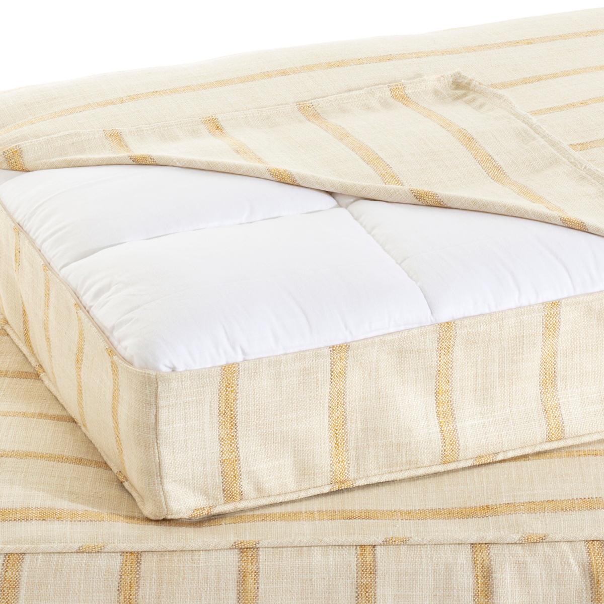 Glendale Stripe Gold/Natural Dog Bed Cover