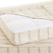 Glendale Stripe Light Blue/Natural Dog Bed Cover