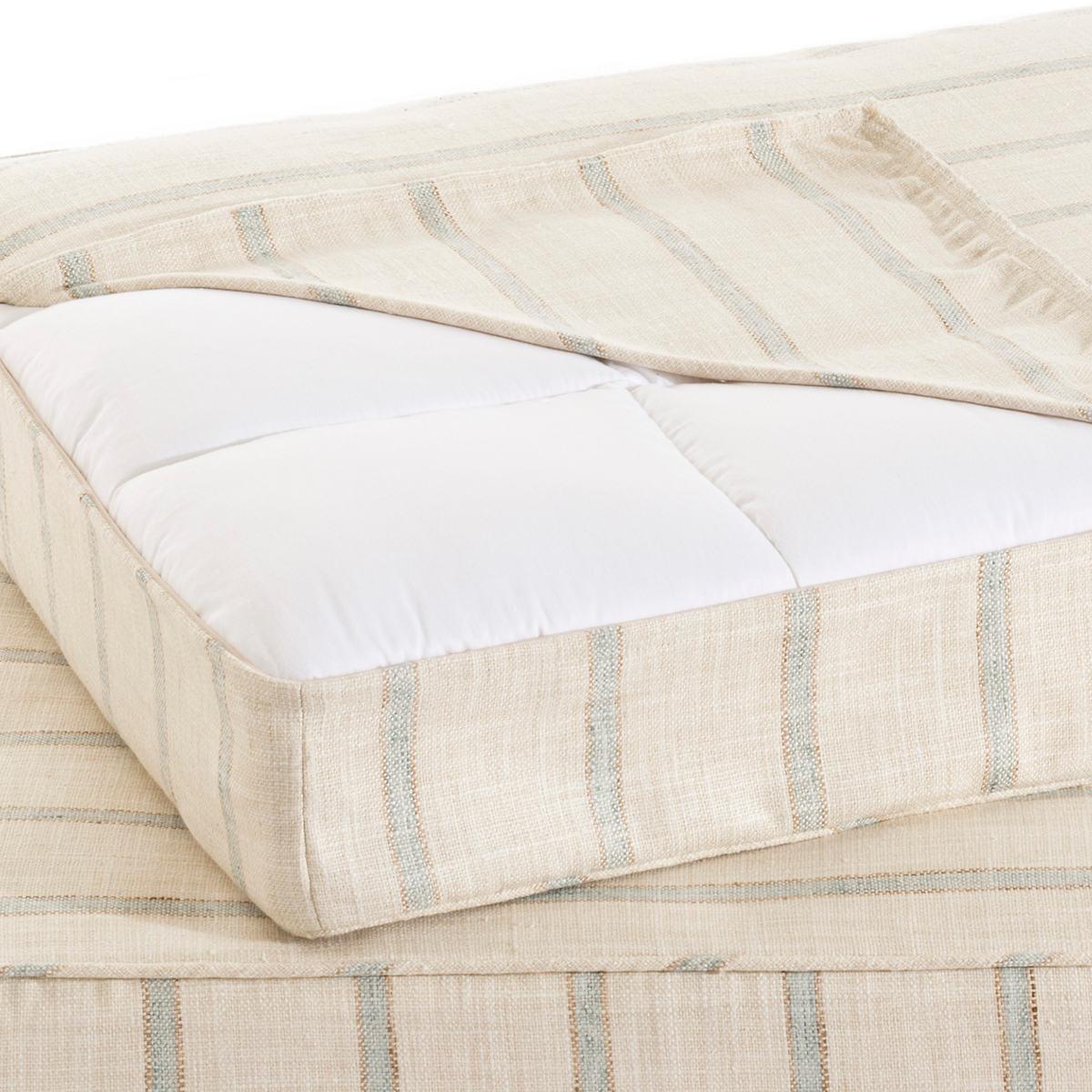 Glendale Stripe Light Blue/Natural Dog Bed Cover