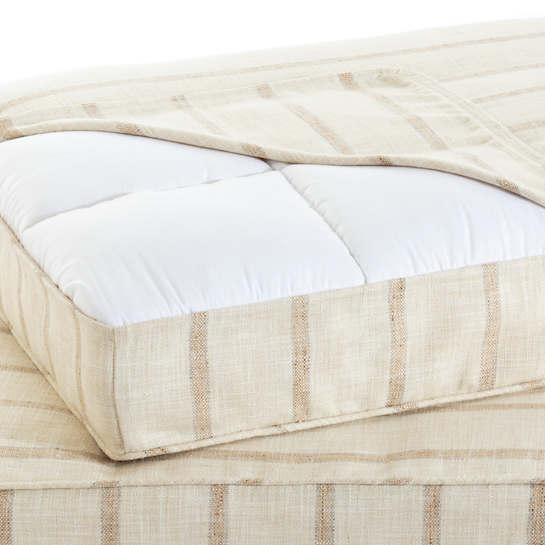 Glendale Stripe Natural/Grey Dog Bed Cover