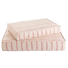 Glendale Stripe Brick/Brown Dog Bed