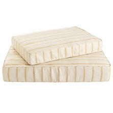 Glendale Stripe Gold/Natural Dog Bed