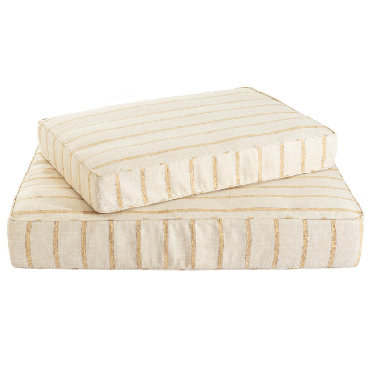 Glendale Stripe Gold/Natural Dog Bed
