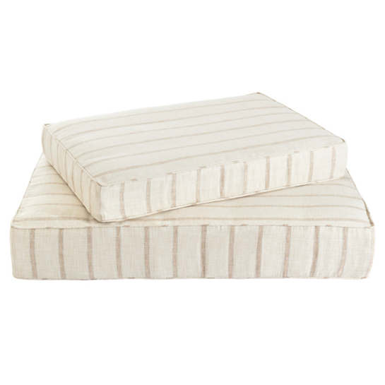 Glendale Stripe Natural/Grey Dog Bed