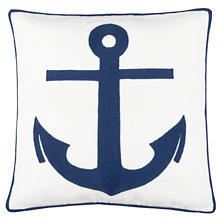 Admiral White/Denim Indoor/Outdoor Decorative Pillow