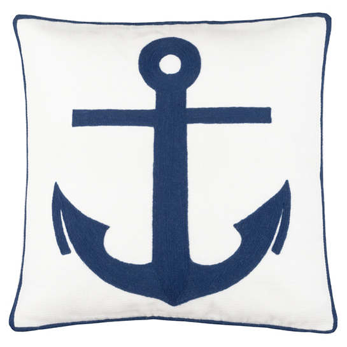 Admiral White/Denim Indoor/Outdoor Decorative Pillow
