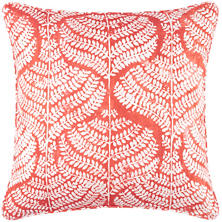 Flora Linen Coral Decorative Pillow