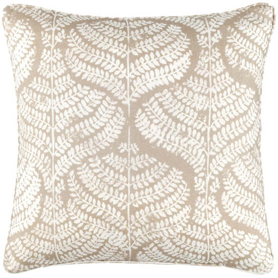 Flora Linen Natural Decorative Pillow