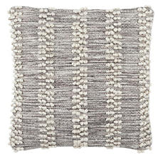Hobnail Stripe Grey Indoor/Outdoor Decorative Pillow