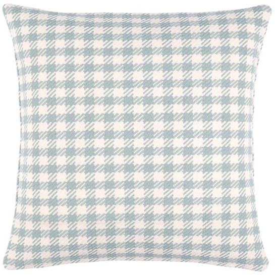 Houndstooth Light Blue Indoor/Outdoor Decorative Pillow