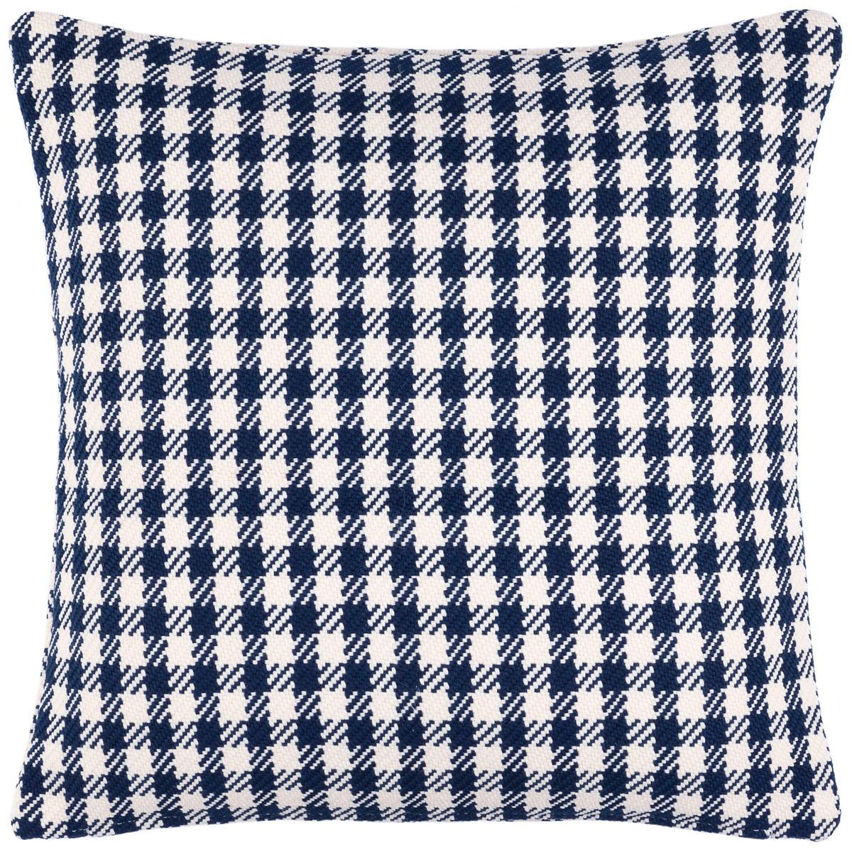 Houndstooth Navy Indoor/Outdoor Decorative Pillow
