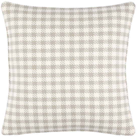 Houndstooth Platinum Indoor/Outdoor Decorative Pillow
