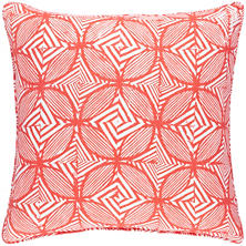 Labyrinth Linen Coral Decorative Pillow