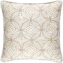 Labyrinth Linen Natural Decorative Pillow