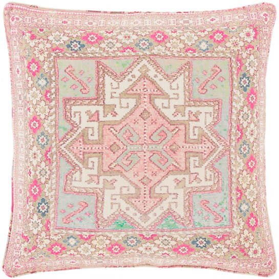 Lolita Linen Geometric Decorative Pillow