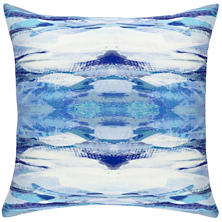 Optic Blue Indoor/Outdoor Decorative Pillow
