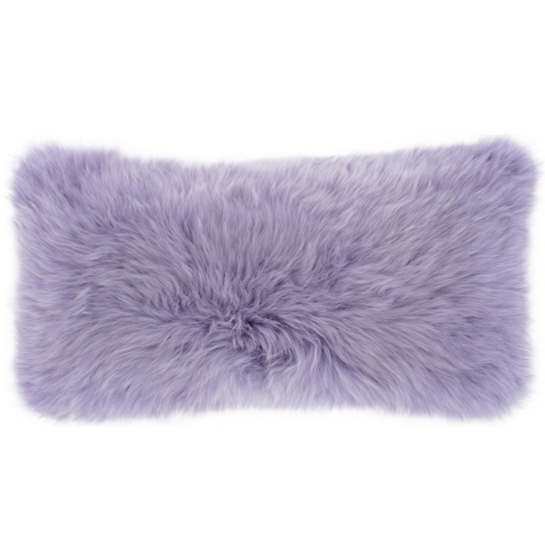 Longwool Combed Sheepskin Orchid Decorative Pillow