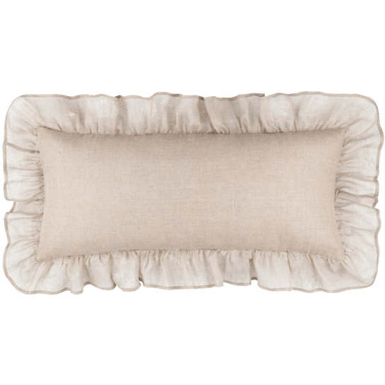 Savannah Linen Gauze Natural Decorative Pillow