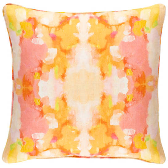 Sunset Beach Linen Decorative Pillow