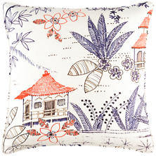 Tahitian Linen Decorative Pillow