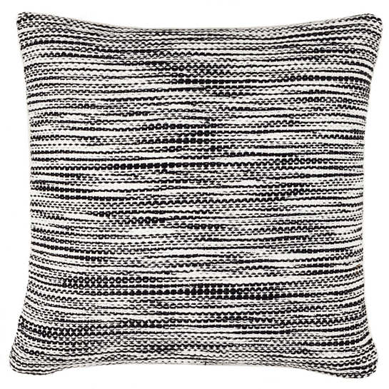 Tideline Black Indoor/Outdoor Decorative Pillow