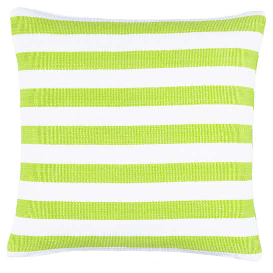 Trimaran Stripe Apple/White Indoor/Outdoor Decorative Pillow