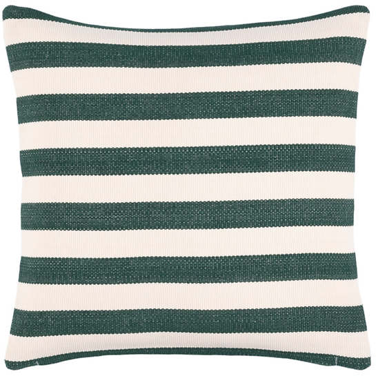 Trimaran Stripe Pine/Ivory Indoor/Outdoor Decorative Pillow