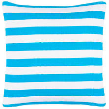Trimaran Stripe Turquoise/White Indoor/Outdoor Decorative Pillow