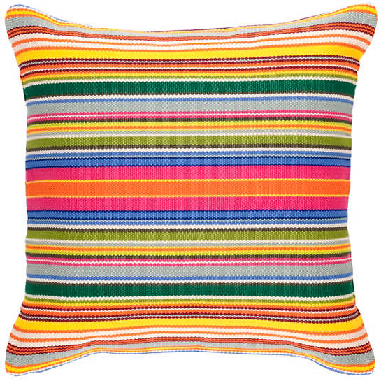 Tropical Stripe Indoor/Outdoor Decorative Pillow