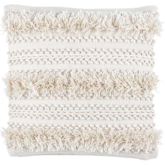 Zhara Ivory Indoor/Outdoor Decorative Pillow
