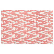 Ikat Woven Coral Placemat