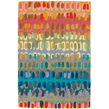 Attractive Paint Chip Micro Hooked Wool Rug