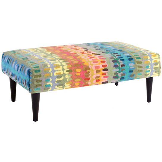 Paint Chip Tapered Tobacco Leg Rug Ottoman